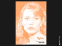 Sylvia - Minimalist Swiss Style Movie Poster woman poetry biography drama poster halftone swiss poster swiss style poster design helvetica movies typography minimalistic graphic design design