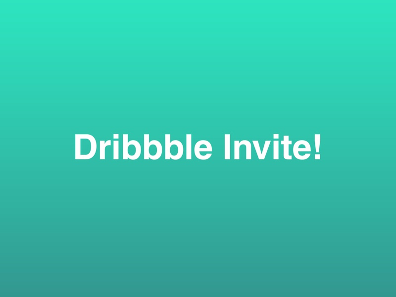 Dribbble Invitation #14 green gradient minimalistic giveaway draft day dribbble dribbble best shot dribbble invitation dribbble invite invite player design graphic design