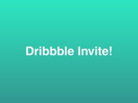Dribbble Invitation #14 green gradient minimalistic giveaway draft day dribbble dribbble best shot dribbble invitation dribbble invite invite player design graphic design