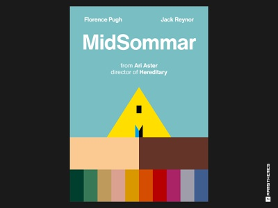 MIDSOMMAR (2019) Swiss Style Movie Poster minimalist movie poster psychological horror helvetica poster design movies midsommar typography minimalistic graphic design design