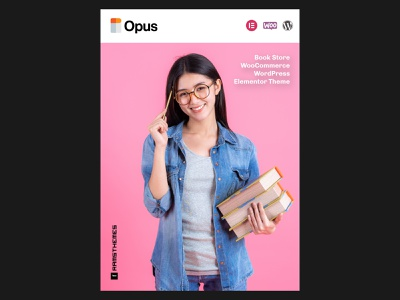 OPUS - Book Store WooCommerce WordPress Elementor Theme web minimalistic advertisement wordpress woocommerce theme elementor templates elementor bookstore bookshop books wordpress theme branding wordpress design graphic design design