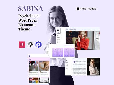 SABINA - Psychologist WordPress Elementor Theme professional elementor health counselor psychologist ui ux wordpress theme wordpress design minimalistic graphic design design