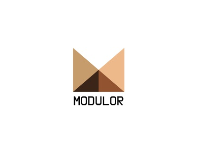 MODULOR - Logo for new WordPress Template project rational logotype branding logo wordpress theme typography minimalistic graphic design design