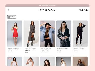 ZUBON - Fashion Brand Store WooCommerce Theme templates wordpress woocommerce theme woocommerce elementor fashion brand fashion ui ux wordpress theme wordpress design minimalistic graphic design design