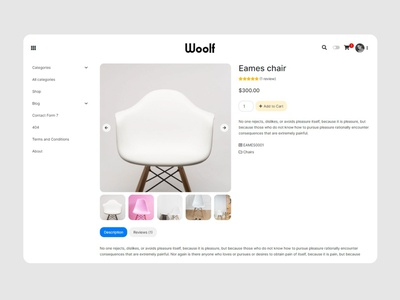 WOOLF - Furniture and Home Gadgets WooCommerce Theme 🛋️ templates themes frontend typography ui bootstrap furniture wordpress theme wordpress design minimalistic graphic design design