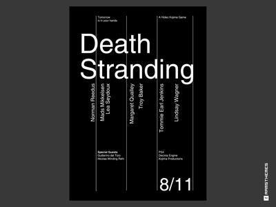 Death Stranding Swiss Typographic Poster