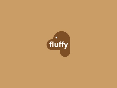 Fluffy Dog MInimalistic Logo Dribbble Weekly Warm Up