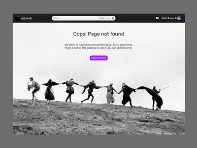 INGMAR - Movie News Blog WordPress Theme - 404 Page Not Found