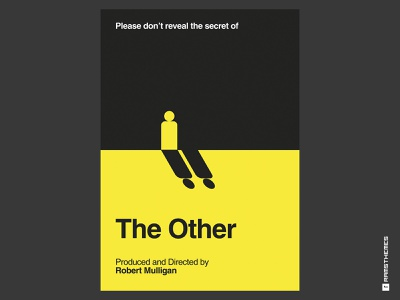 THE OTHER - minimal swiss movie poster - Dribbble Weekly Warm Up helvetica swiss design swiss style swiss shadow spooky poster design horror movies classics horror movie movies movie poster movie art movie vector typography minimalistic graphic design design