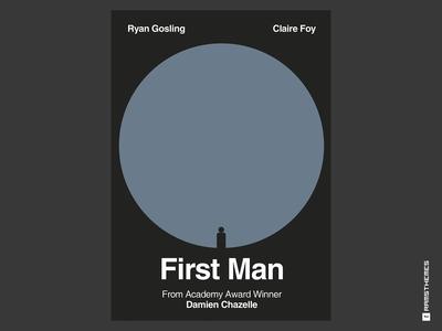 First Man - Minimalist Swiss Style Movie Poster