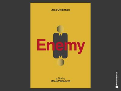 Enemy - Minimalist Swiss Style Movie Poster