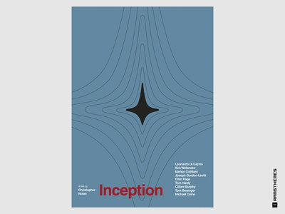 INCEPTION - Minimalist Swiss Style Movie Poster
