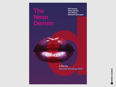 THE NEON DEMON - Minimalist Swiss Style Movie Poster