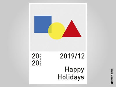 Bauhaus Greetings // Dribbble Weekly Warmup