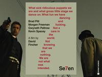 SE7EN - Typographic Swiss Style Movie Poster