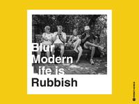 Blur - Modern Life is Rubbish Album Cover Remake 2019
