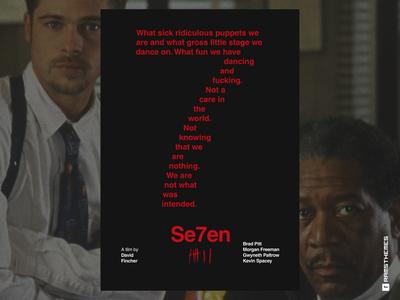 SE7EN - Typographic Swiss Style Movie Poster / Alt. Version