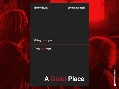 A QUIET PLACE - Minimalist Swiss Style Movie Poster