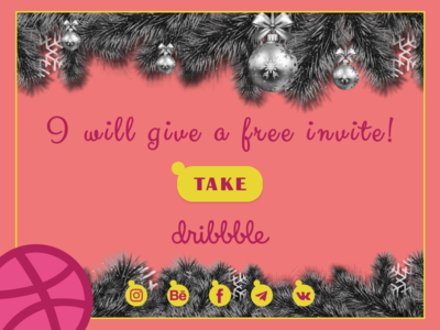 Hey hello! Invite to Dribble!