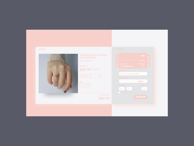 Credit card checkout for dailyUI 002 ui design