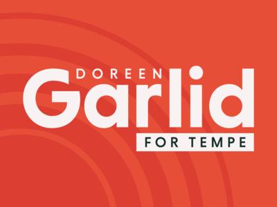 Doreen Garlid for Tempe sun coral branding politics campaign