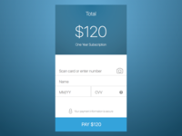 Mobile Credit Card Checkout - DailyUI - 002
