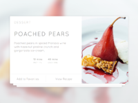 Recipe card   dribbble
