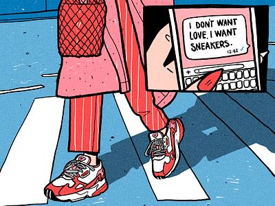 """""""Love"""". Illustration for Foot Locker procreateapp procreate illustration fashionillustration draw drawing digital illustration"""