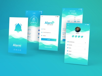 Alarm Monitoring App UI Design