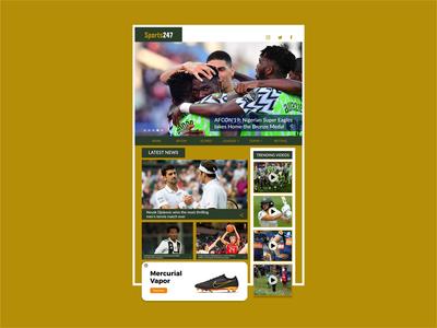 Sports Webpage UI Design