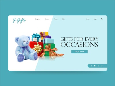 Gift Store Landing Page
