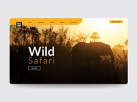 Wildlife landingpage design