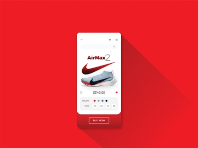 Product Page for Nike AirMax