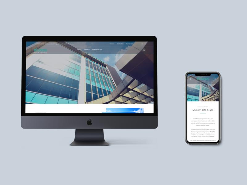 Landing Page Company Profile branding uiux responsive landingpage webdesign