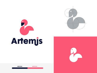 Artemis - Logo type brand identity graphic design graphic art clean flat illustrator lettering minimal illustration icon branding vector logo design