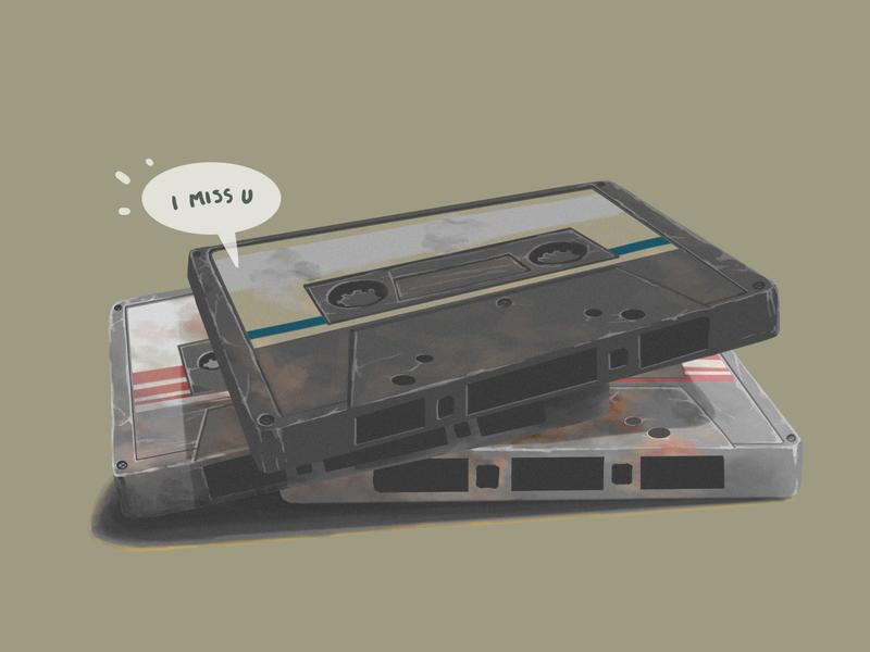 cassette drawing digital painting illustration digitalart design cover art