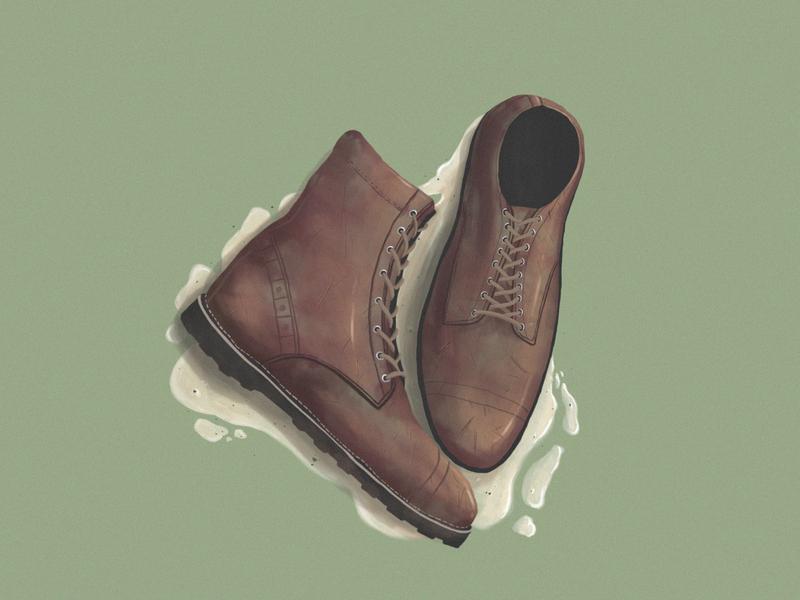 boots logo poster drawing digital painting illustration digitalart design