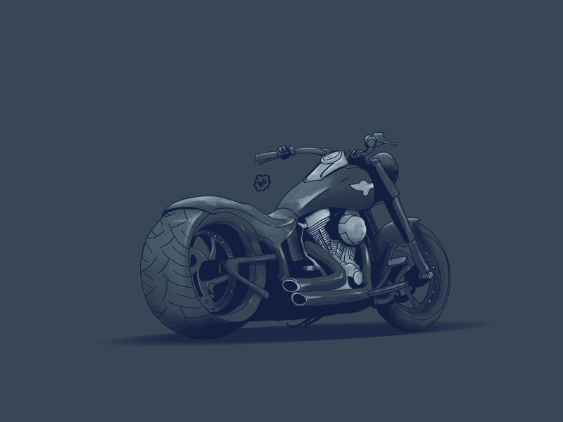 motorcycle motorcycle art harley davidson logo poster cover design drawing digital painting cover art illustration digitalart design