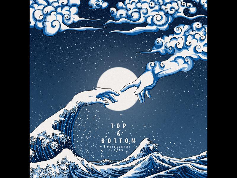 Top & Bottom poster cover design drawing digital painting cover art illustration digitalart design