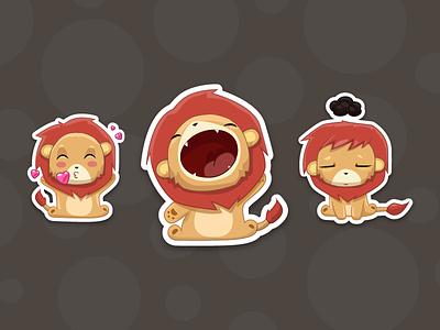 Tau The Lion upset hey love illustration cute sticker lion