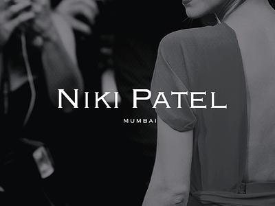 Niki Patel Branding v2 logo design copperplate wordmark logo identity branding design