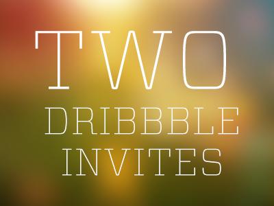 Two Dribbble Invites contest dribbble invites shots portfolio who wants it