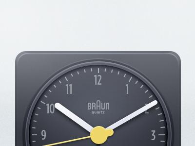 Braun Clock braun clock icon illustration photoshop analog minimal dieter rams rams clock clean simple needle alarm tick tock benrulz realism