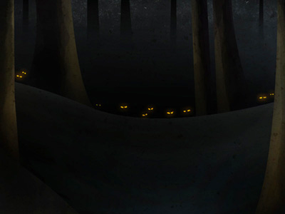The Grey wolves forest snow dark illustration the grey liam neeson