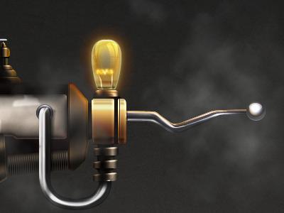 Steampunk Gun — WIP gun steampunk assault weapon metal vintage bulb