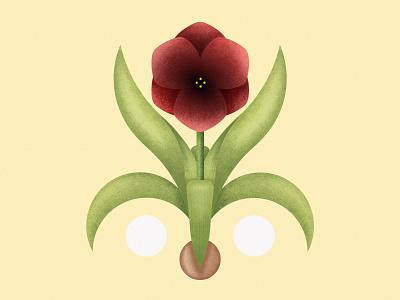 Giglio | My porch plants series illustrator photoshop geometic draw flower illustration flower plants giglio nature green design vector minimal illustration