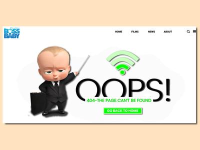 404 - Error Page UI Design
