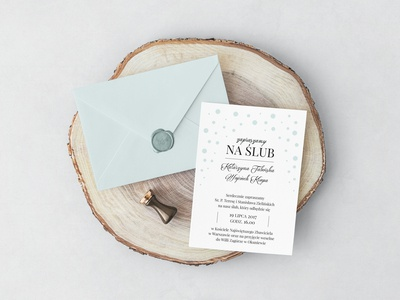 Wedding invitations with dots