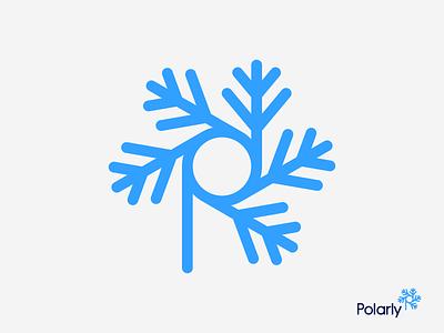 Snowflake + P Letter Logo Design / Brand Identity Design logo branding startup logo design design brand identity app icon p p letter snowflake snow winter polar