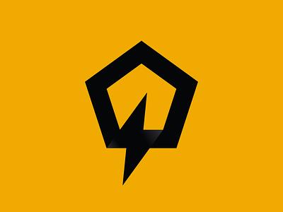 Quick / Fast Q Letter and Thunder Logo Design corporate monogram brand identity icon brand branding logo design logo light thunder q letter q fast quick